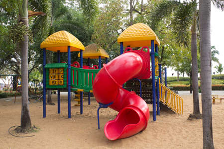children playground in park photo