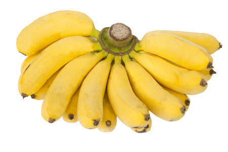 Mini bananas isolated on a white background Stock Photo
