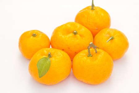 Orange fruit isolated on white background Stock Photo - 12300937