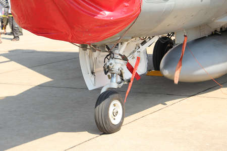 BANGKOK - JANUARY 14 : F-16 ADF on display at Don Muang Airshow, January 14, 2012, Don Muang Airport, Bangkok, Thailand. Editorial