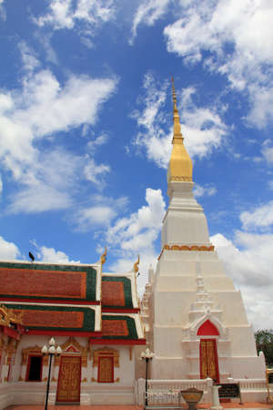 chum: Wat Phra That Choeng Chum,Thailand Stock Photo