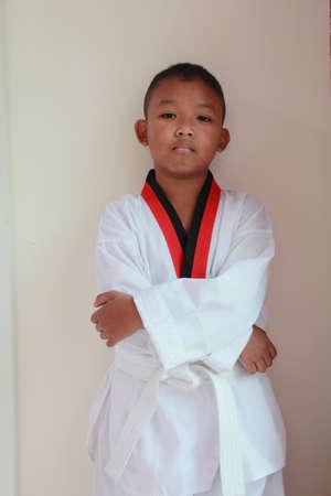 boy dress karate uniform  Stock Photo - 12503290