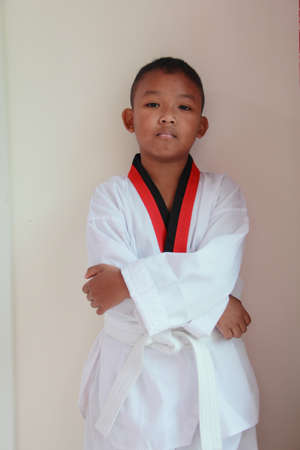 boy dress karate uniform Stock Photo - 12503290