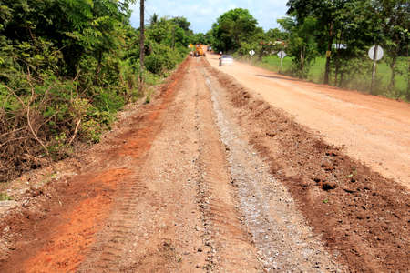 red Road  rural construction  Stock Photo