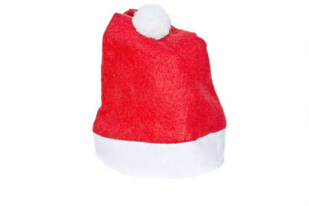 Xmas santa hat, isolated on white  Awaiting validation Stock Photo - 16930428
