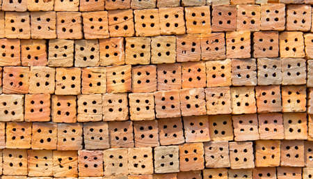 brick with hole and line texture ready for construction Stock Photo - 24810978