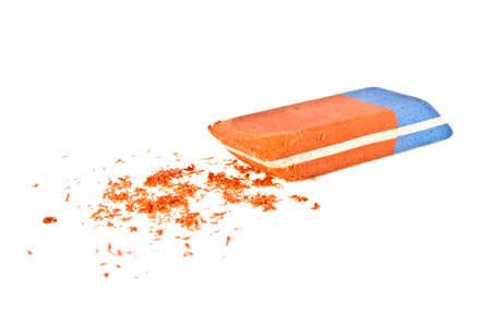 Eraser on a white background Stock Photo