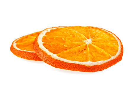 scent: Dried orange slices isolated on white background