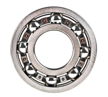 bearings: Metal bearings isolated on a white background