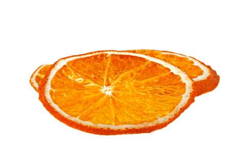 dried orange: Dried orange slices isolated on white background
