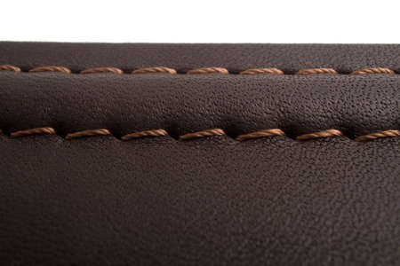 suede belt: leather with seam, belt background Stock Photo