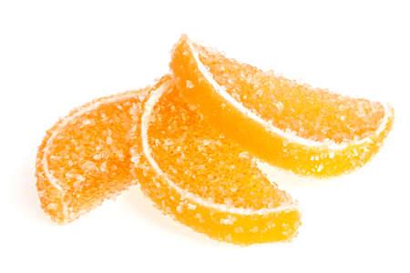 Jujube - orange jelly candy isolated on white background Stock Photo