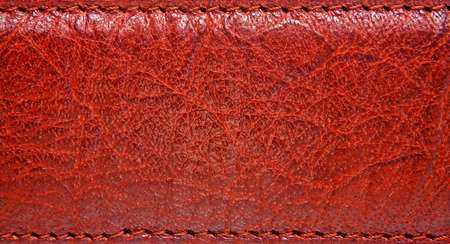 Brown leather belt with seam, abstract background Stock Photo