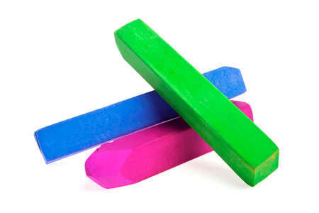 chalks: Colorful chalks on a white background