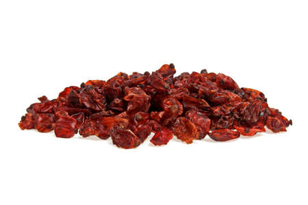 barbery: Dried barberries isolated on white background