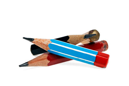 secretarial: Pencils isolated on a white background Stock Photo