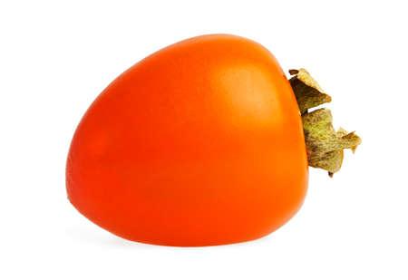 Fresh Persimmon fruit isolated on white background Stock Photo