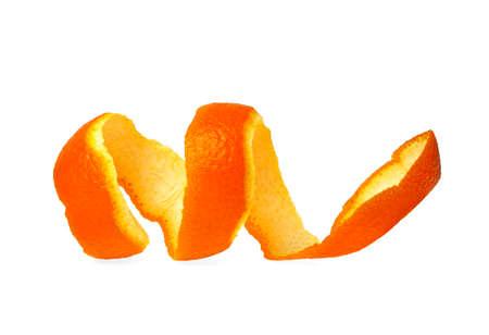 orange peel skin: Orange peel against white background