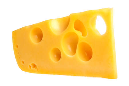 Cheese isolated on a white background Banco de Imagens