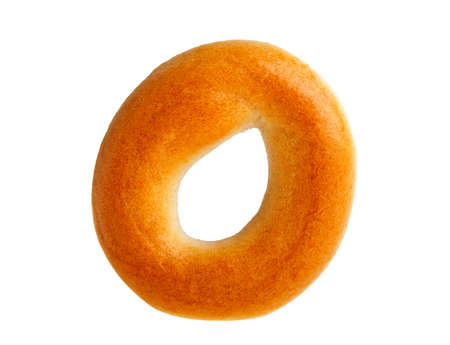 doughy: Bagel on a white background