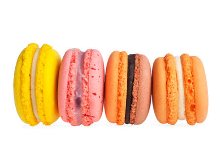 Colorful macaroon isolated on white background