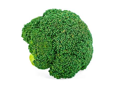 cruciferous: Fresh broccoli isolated on white background