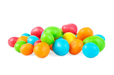 sweetly: Colorful candies on a white background Stock Photo
