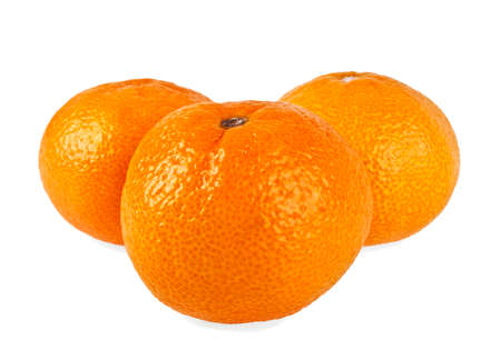 Orange mandarin or tangerine fruit isolated on white background Stock Photo