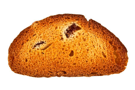 Rusk with raisins on a white background Stock Photo