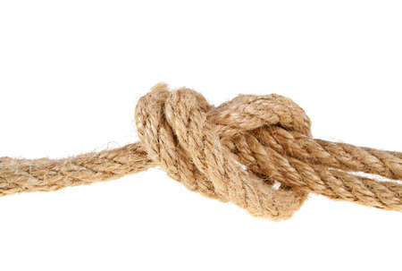 lashing: Rope isolated on white background