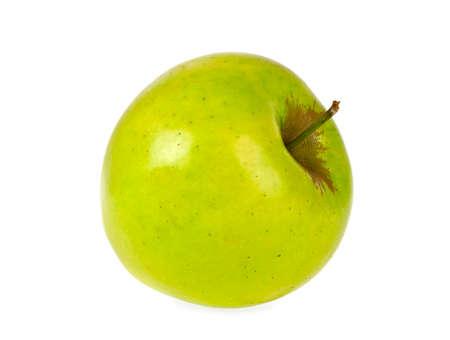 segmento: Green apple isolated on white background