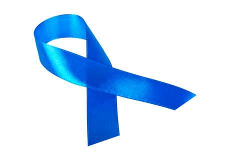 atrocity: Awareness blue ribbon isolated on white background