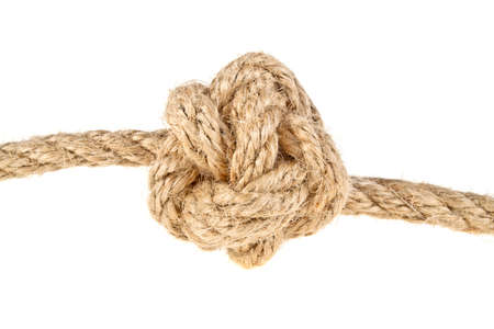 Rope on a white background, Celtic knot button