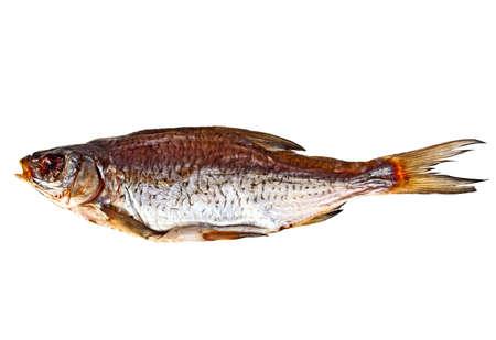 bluefish: Dried fish isolated on white background