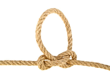 ellipse: Rope on a white background