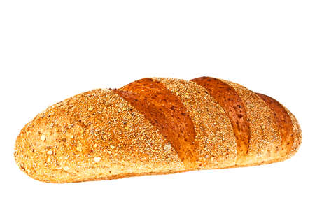 Buckwheat bread on a white background Stock Photo