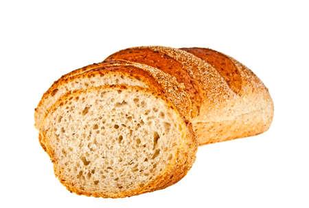Buckwheat bread on a white background Stock Photo