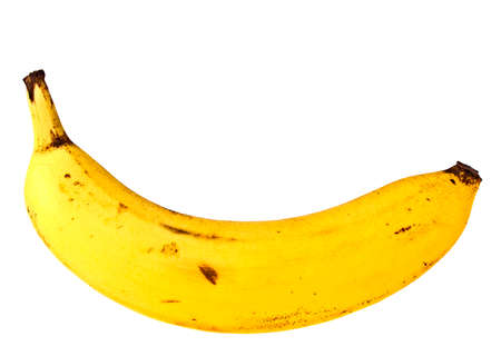 bannana: Banana on a white background Stock Photo