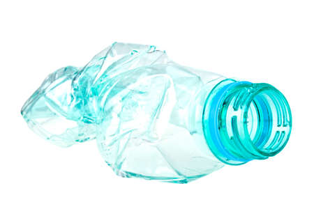 Used plastic bottle on a white background