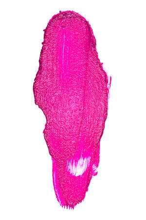 eyemakeup: Violet color lipstick stroke on white background