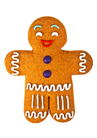gingerbread man: Gingerbread man, gingerbread on white background