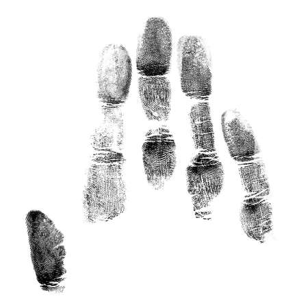 Handprint on a white background