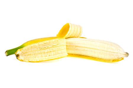 bad banana: Ripe banana isolated on white background