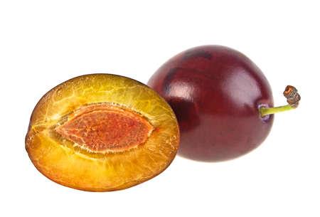 rakia: Plums fruit isolated on a white background
