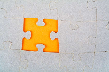 missing piece: Puzzle with missing piece