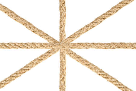 Close up of a ropes on white background