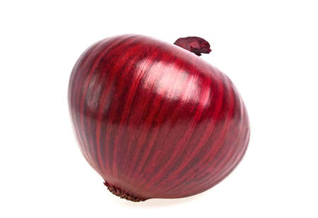aftertaste: Red onion isolated on white background Stock Photo