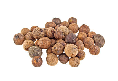spicey: Aromatic allspice isolated on white background Stock Photo