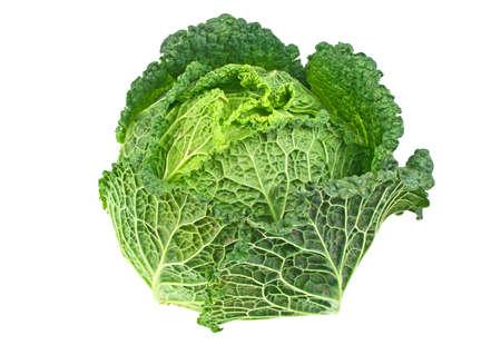 savoy: Savoy cabbage isolated on white background