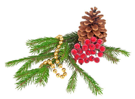 celebratory event: Christmas decorations on a white background